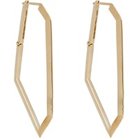 Monique Pean Women's Gold Geometric Hoops No Color