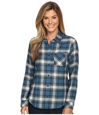 Pendleton Frankie Flannel Shirt Night Sky Heather Plaid Women's Clothing Blue