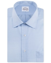 Eagle Big And Tall Non Iron Blue Pinpoint Solid Dress Shirt