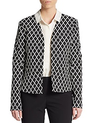 Diamond Print Jacket Black