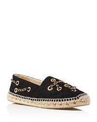 Moschino Chain Espadrille Flats Black
