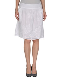 Antik Batik Knee Length Skirts White