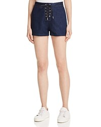 Rag And Bone Rag And Bone Jean Lace Up Denim Shorts In Resin