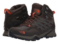 The North Face Hedgehog Hike Mid Gtx Morel Brown Orange Rust Men's Hiking Boots