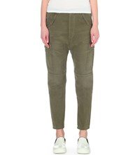 Citizens Of Humanity Ronja Straight Mid Rise Cargo Jeans Olive