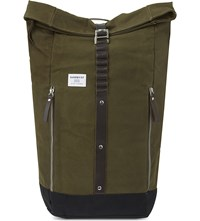 Sandqvist Rolf Waxed Canvas Backpack Waxed Olive