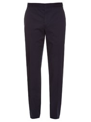 Lanvin Slim Leg Cotton Chino Trousers Blue