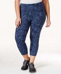Styleandco. Style And Co. Sport Plus Size Printed Active Capri Leggings Only At Macy's