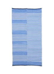 Lemlem 'Selina' Contrast Stripe Cotton Blend Wrap Blue Multi Colour