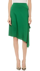 Cedric Charlier Satin Skirt Green