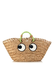 Anya Hindmarch Eyes Straw Beach Bag