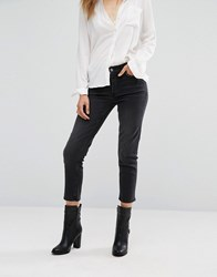 Mango Studded Mom Jeans Black