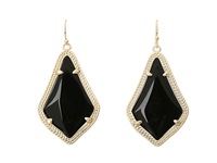 Kendra Scott Alex Earring Gold Black Opaque Glass Earring