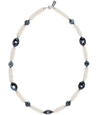 Viyella Navy Facet And Jacks Necklace