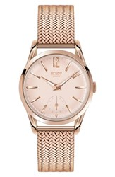 Henry London Women's 'Picadilly' Mesh Strap Watch 30Mm