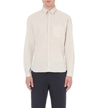 Oliver Spencer New York Special Slim Fit Cotton Shirt Colworth Cream