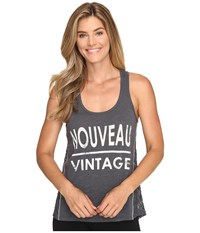 Pj Salvage Nouveau Vintage Graphic Tank Top Charcoal Women's Pajama Gray