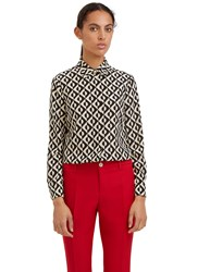 Gucci Geometric Print Shirt Black