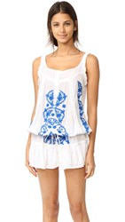 Melissa Odabash Jaz Dress White Electric Blue