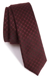 The Kooples Men's Checkerboard Jacquard Skinny Tie