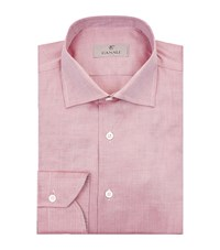 Canali Microweave Oxford Shirt Male Red