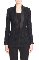 Women's St. John Collection Crystal Embellished Geo Guipure Lace Blazer