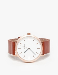 The Horse Brushed Rose Gold Walnut Watch