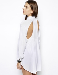 Bcbgeneration Shirt With Back Cut Out Detail White