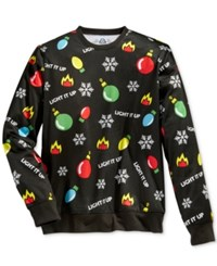 American Rag Men's Lights Graphic Print Sweatshirt Only At Macy's Black