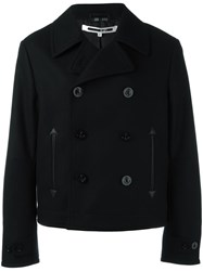 Mcq By Alexander Mcqueen Short Peacoat Black