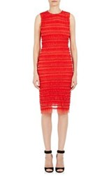 Givenchy Women's Polka Dot Sheath Dress Red