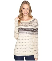 Woolrich Mohair Fairisle Ii Sweater Wool Cream Combo Women's Sweater Beige