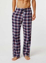 Topman Multi Check Pyjama Bottoms Blue