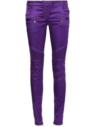 Balmain Skinny Trousers Pink And Purple