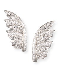 Magnipheasant Pave Diamond Wing Earrings Women's White Stephen Webster
