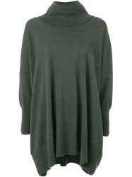 N.Peal Cowl Neck Oversized Sweater Green