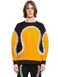 Ktz Baseball Seams Cotton Sweatshirt W Knit