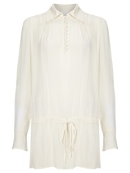 Ghost Drawstring Waist Blouse Ivory