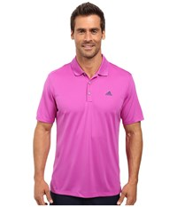 Adidas Branded Performance Polo Flash Pink Men's Short Sleeve Pullover