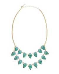 Fragments For Neiman Marcus Fragments Ombre Pav Crystal Leaf Necklace Teal