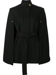 Alexandre Vauthier Belted Cape Coat Black