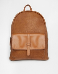Pieces Tan Backpack With Pocket And Strap Detail