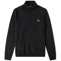 Fred Perry Merino Roll Neck Knit Black
