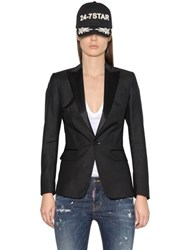 Dsquared Peaked Lapels Wool And Silk Blend Jacket
