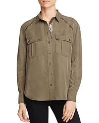 Free People Off Campus Cargo Shirt Moss