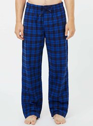 Topman Blue And Navy Check Pyjama Bottoms