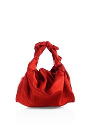 The Row Ascot Knotted Satin Tote Rose