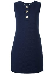 Love Moschino Sleeveless Quilted Dress Blue