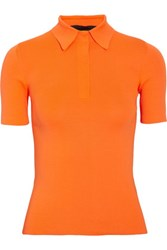 Alexander Wang Stretch Jersey Polo Shirt Bright Orange