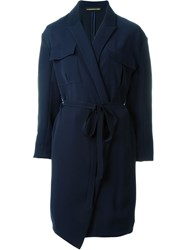 Alexandre Vauthier Wrap Dress Blue